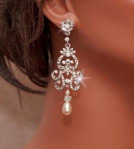 Bridal Rhinestone Earring via Etsy